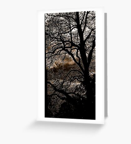 The church yard tree............. Greeting Card