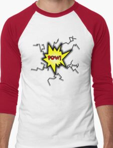 POW Caption Cushion Cover Men's Baseball ¾ T-Shirt