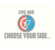 Marvel Civil War - Choose Your Side V.02 Art Print