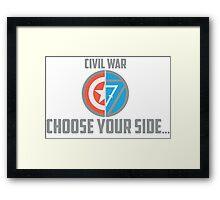 Marvel Civil War - Choose Your Side V.02 Framed Print