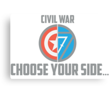 Marvel Civil War-Choose Your Side Version 2 Canvas Print