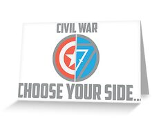 Marvel Civil War - Choose Your Side V.02 Greeting Card