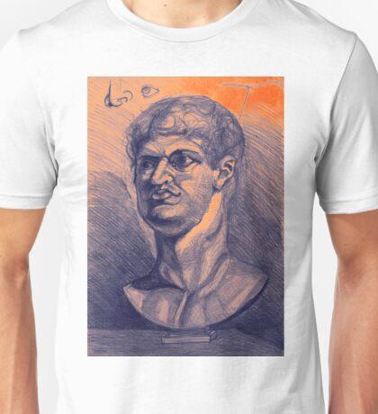 Drawing portrait of male ancient figure Unisex T-Shirt