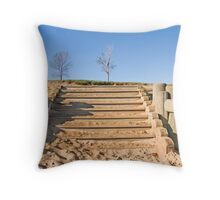 Stairway in Sand Throw Pillow