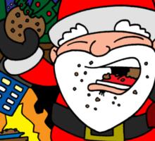 Whovian Santa Sticker