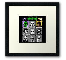 8 Bit Monsters Framed Print