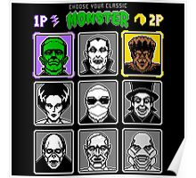 8 Bit Monsters Poster