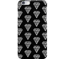 Bijou - Geometric diamond gem pattern in black and white iPhone Case/Skin
