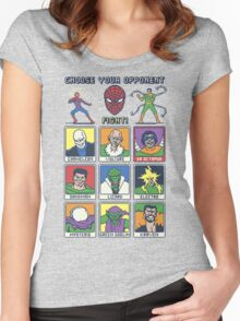 8 Bit Spider Fighter Women's Fitted Scoop T-Shirt