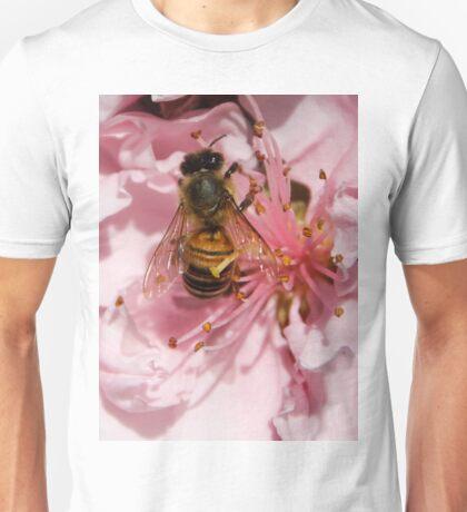Bee Gathering Peach Pollen Unisex T-Shirt