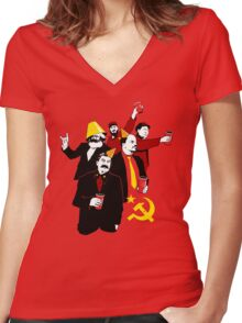 The Communist Party (variant) Women's Fitted V-Neck T-Shirt