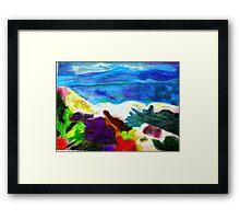 Mountainside Beach Framed Print