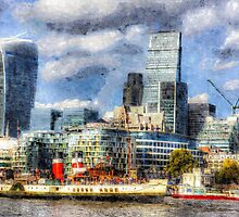 London View Art by DavidHornchurch