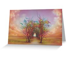Birds of Rainbow Mist Greeting Card