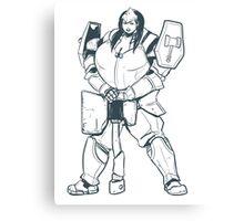 Ample Adventurer - Half-Orc Paladin Canvas Print