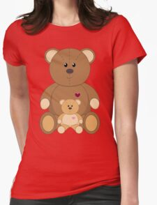 TWO TEDDY BEARS Womens Fitted T-Shirt