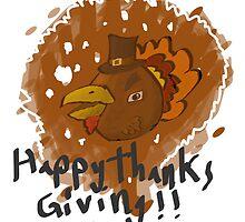 Angry Bird Turkey by quikdraw