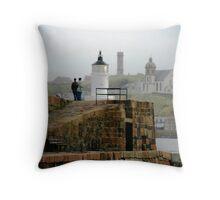 Banff Harbour Light Throw Pillow