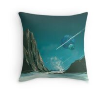 UPON A COMET IT COMES Throw Pillow