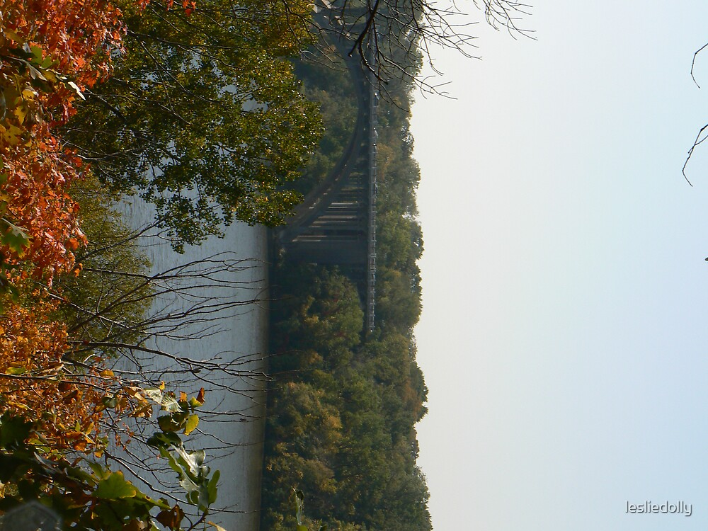 arch bridge in fall by lesliedolly