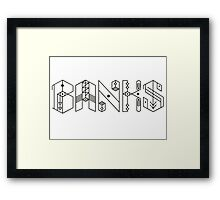 Banks Singer Framed Print