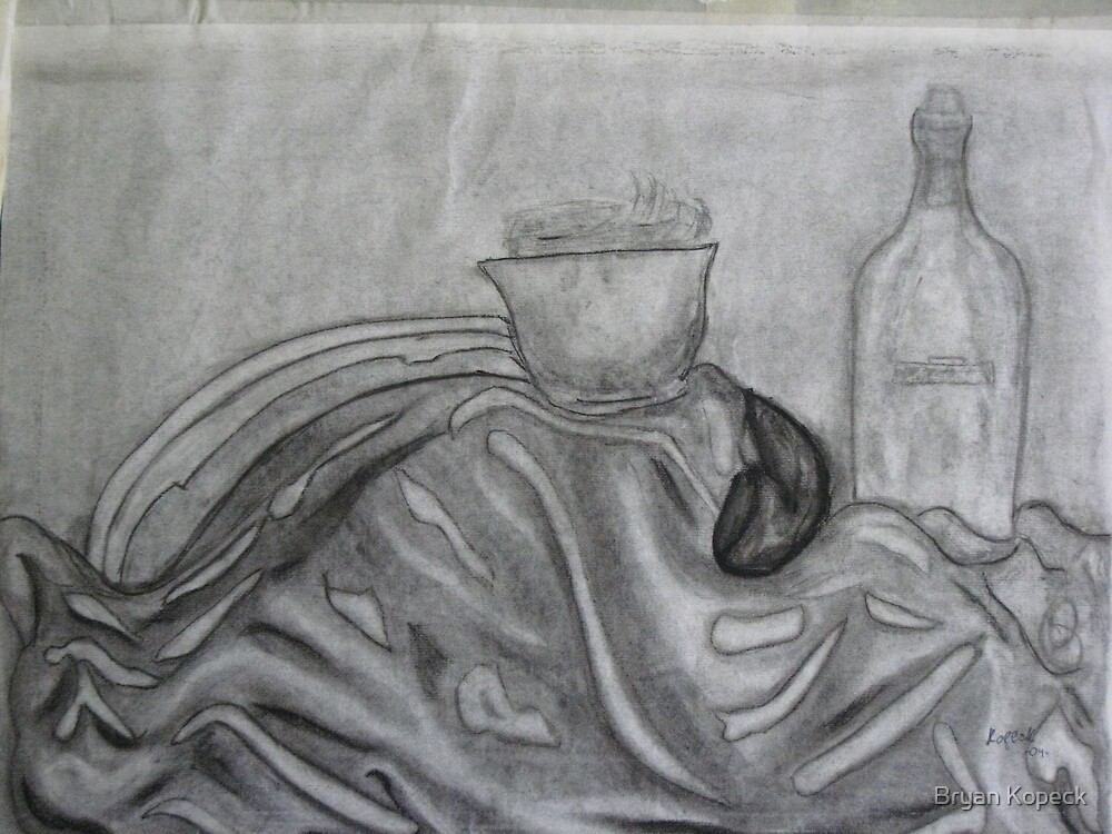 Charcoal Still Life by Bryan Kopeck