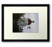 Small town, town hall Framed Print