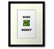 Mario Boot Framed Print