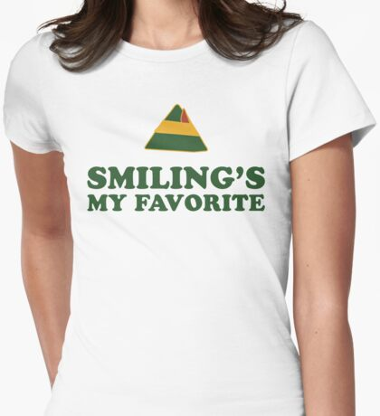 I Just Like To Smile, Smilings My Favorite 2/2 Womens Fitted T-Shirt