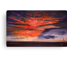 Oil Mystic Park: Blazing Sunset Canvas Print