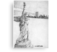 """The Statue of Liberty""  Canvas Print"