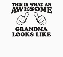This Is What An Awesome Grandma Looks LIke, Black Ink | Grandparents Gift Womens Fitted T-Shirt