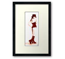 Tip top, Top Hat! - Red Framed Print