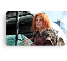 Irisa Packs The Roller Canvas Print