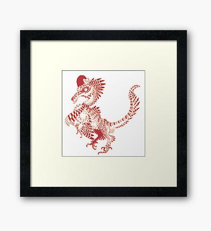 Christmas Velociraptor Framed Print