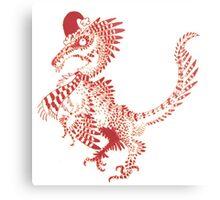 Christmas Velociraptor Metal Print