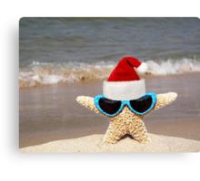 Santa Starfish Canvas Print