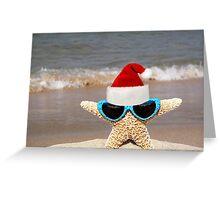 Santa Starfish Greeting Card