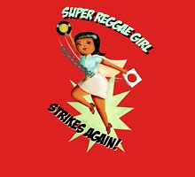 Super Reggae Girl strikes again Womens Fitted T-Shirt