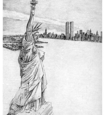 """The Statue of Liberty""  Sticker"