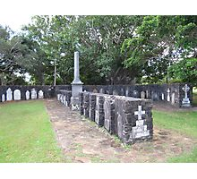 Early Pioneer Gravestones, Ballina. N.S.W. Nth. Coast. Photographic Print