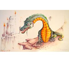 Dragons and candles Photographic Print