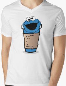 COFFEE MONSTER.  Mens V-Neck T-Shirt