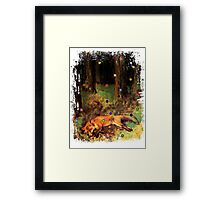 Degas' Dead fox in the forest by Ally Nix Framed Print