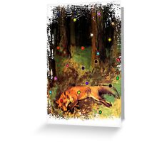 Degas' Dead fox in the forest by Ally Nix Greeting Card