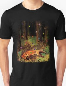 Degas' Dead fox in the forest by Ally Nix T-Shirt