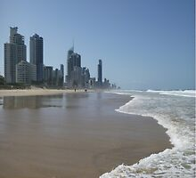 Surfers Paradise Beach by FangFeatures