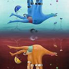 Hand Turkey Surreal Inverted Acrylic Painting by anilatac