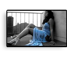 I may not be skinny, have blue eyes or straight blonde hair.. but im ok with that. Canvas Print