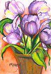 Purple Tulips by Marsha Woods